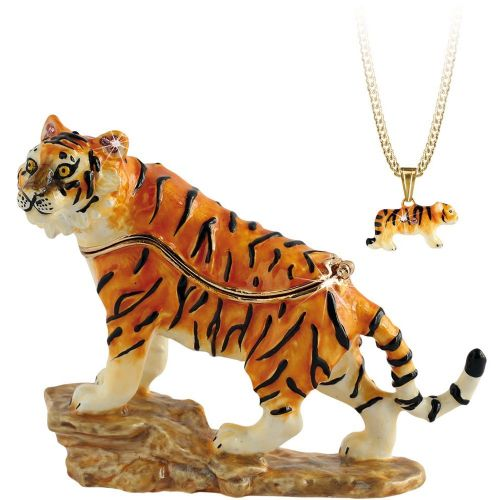 Tiger Trinket Box and Necklace